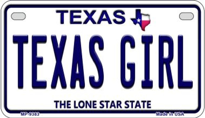 Texas Girl Wholesale Novelty Metal Motorcycle Plate MP-9383