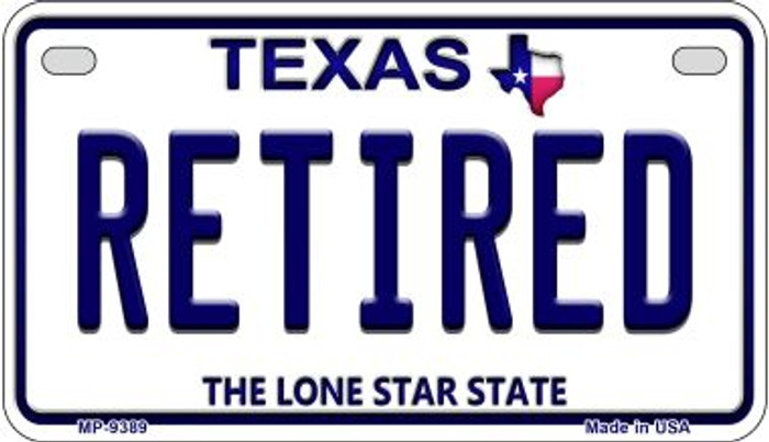 Retired Texas Wholesale Novelty Metal Motorcycle Plate MP-9389