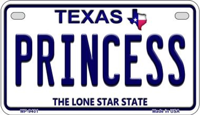 Princess Texas Wholesale Novelty Metal Motorcycle Plate MP-9401