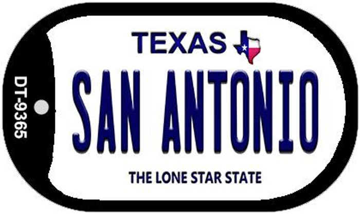 San Antonio Texas Wholesale Novelty Metal Dog Tag Necklace DT-9365