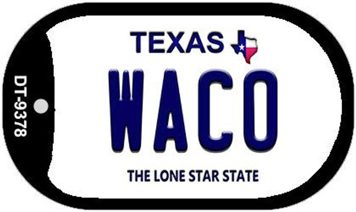 Waco Texas Wholesale Novelty Metal Dog Tag Necklace DT-9378