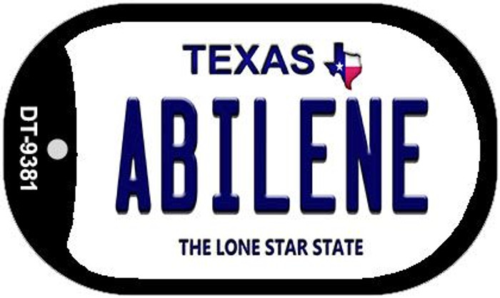 Abilene Texas Wholesale Novelty Metal Dog Tag Necklace DT-9381