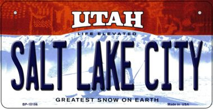 Salt Lake City Utah Wholesale Novelty Metal Bicycle Plate BP-10186