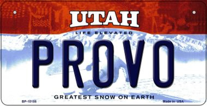 Provo Utah Wholesale Novelty Metal Bicycle Plate BP-10188