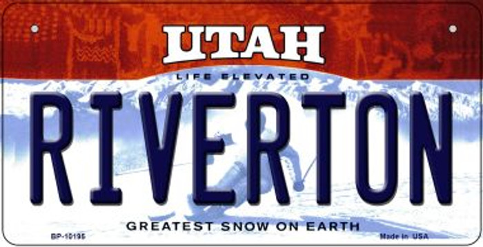 Riverton Utah Wholesale Novelty Metal Bicycle Plate BP-10195
