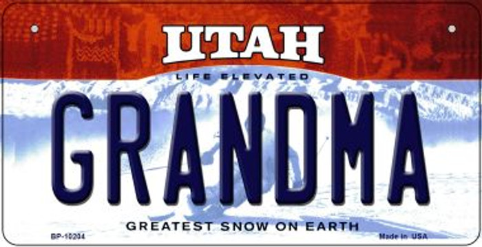 Grandma Utah Wholesale Novelty Metal Bicycle Plate BP-10204