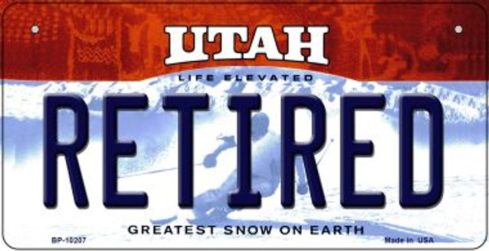 Retired Utah Wholesale Novelty Metal Bicycle Plate BP-10207