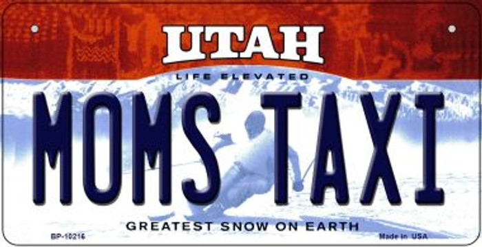 Moms Taxi Utah Wholesale Novelty Metal Bicycle Plate BP-10216
