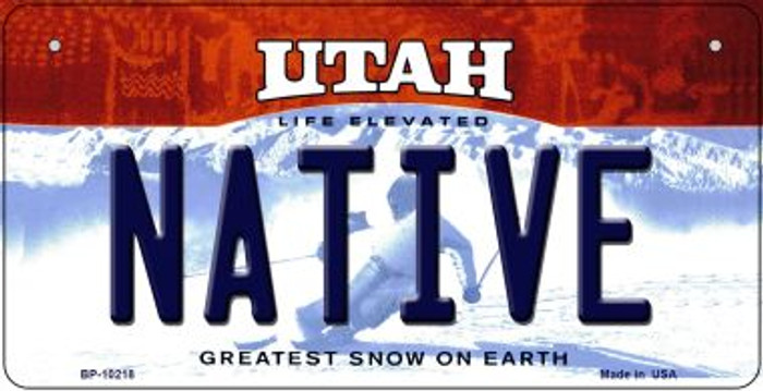Native Utah Wholesale Novelty Metal Bicycle Plate BP-10218