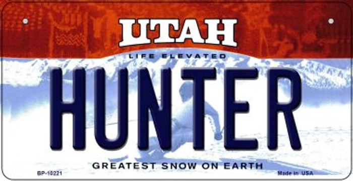 Hunter Utah Wholesale Novelty Metal Bicycle Plate BP-10221