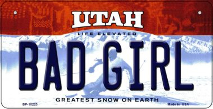 Bad Girl Utah Wholesale Novelty Metal Bicycle Plate BP-10223