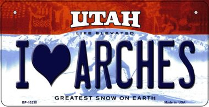 I Love Arches Utah Wholesale Novelty Metal Bicycle Plate BP-10235