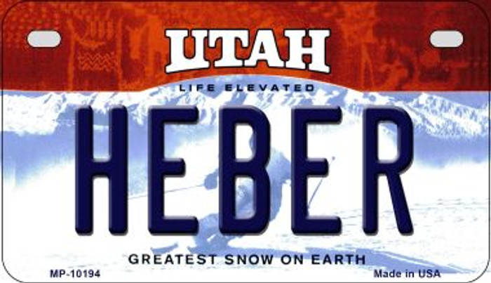Heber Utah Wholesale Novelty Metal Motorcycle Plate MP-10194