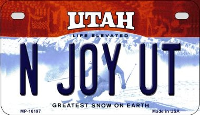 N Joy UT Utah Wholesale Novelty Metal Motorcycle Plate MP-10197