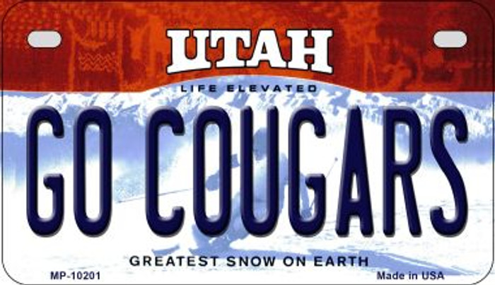 Go Cougars Utah Wholesale Novelty Metal Motorcycle Plate MP-10201