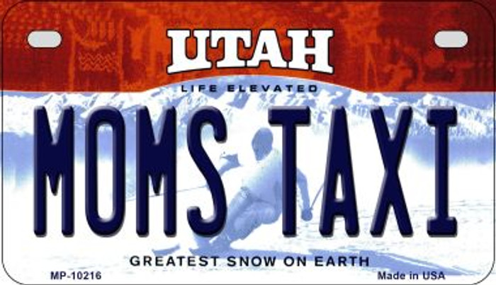 Moms Taxi Utah Wholesale Novelty Metal Motorcycle Plate MP-10216