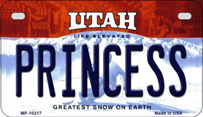 Princess Utah Wholesale Novelty Metal Motorcycle Plate MP-10217