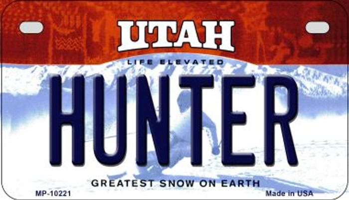 Hunter Utah Wholesale Novelty Metal Motorcycle Plate MP-10221