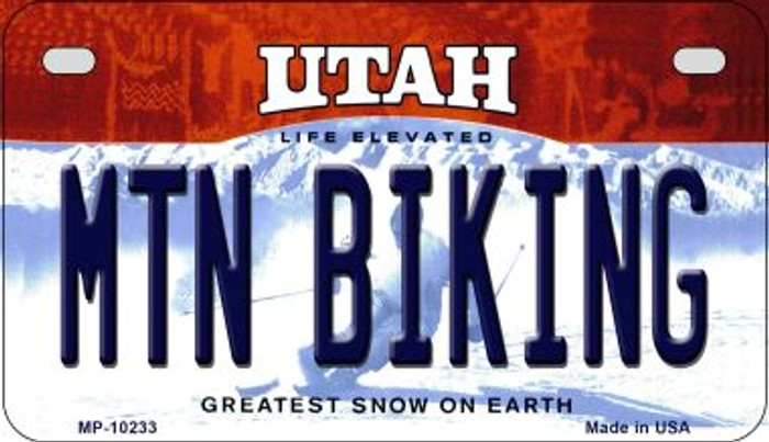 Mtn Biking Utah Wholesale Novelty Metal Motorcycle Plate MP-10233