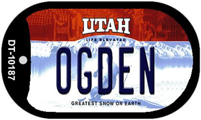 Ogden Utah Wholesale Novelty Metal Dog Tag Necklace DT-10187