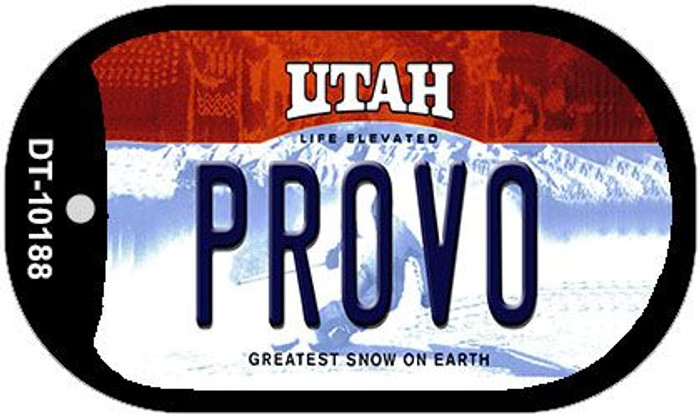 Provo Utah Wholesale Novelty Metal Dog Tag Necklace DT-10188