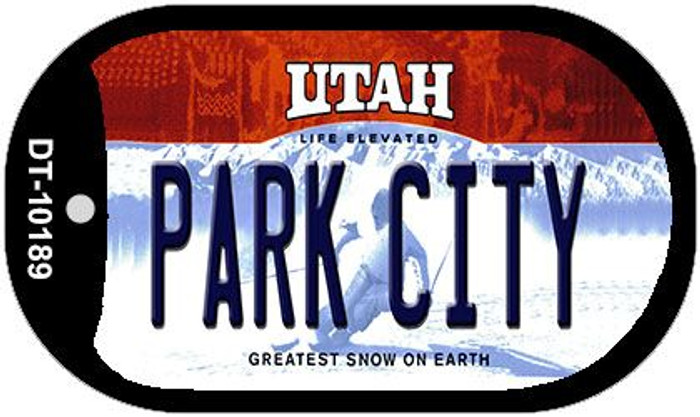 Park City Utah Wholesale Novelty Metal Dog Tag Necklace DT-10189