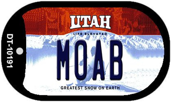 Moab Utah Wholesale Novelty Metal Dog Tag Necklace DT-10191