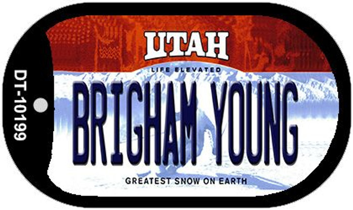 Brigham Young Utah Wholesale Novelty Metal Dog Tag Necklace DT-10199