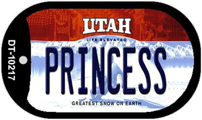 Princess Utah Wholesale Novelty Metal Dog Tag Necklace DT-10217