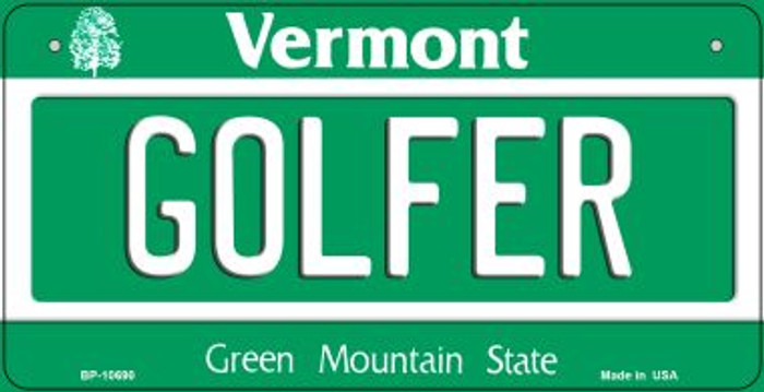 Golfer Vermont Wholesale Novelty Metal Bicycle Plate BP-10690