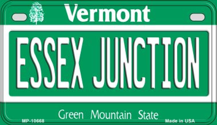 Essex Junction Vermont Wholesale Novelty Metal Motorcycle Plate MP-10668