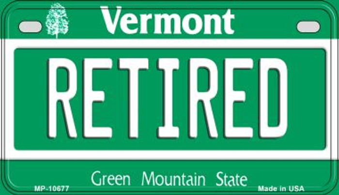 Retired Vermont Wholesale Novelty Metal Motorcycle Plate MP-10677