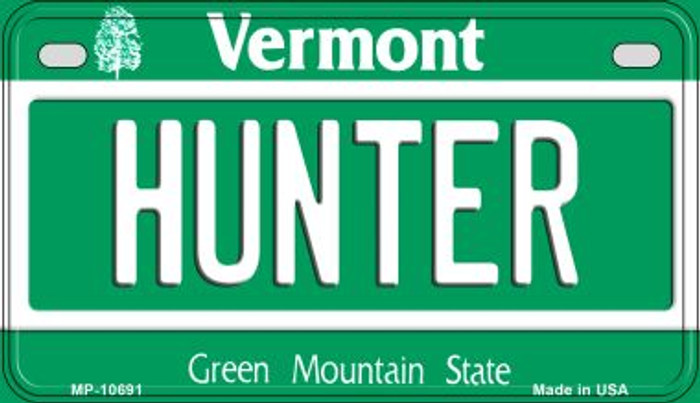 Hunter Vermont Wholesale Novelty Metal Motorcycle Plate MP-10691