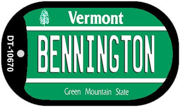 Bennington Vermont Wholesale Novelty Metal Dog Tag Necklace DT-10670