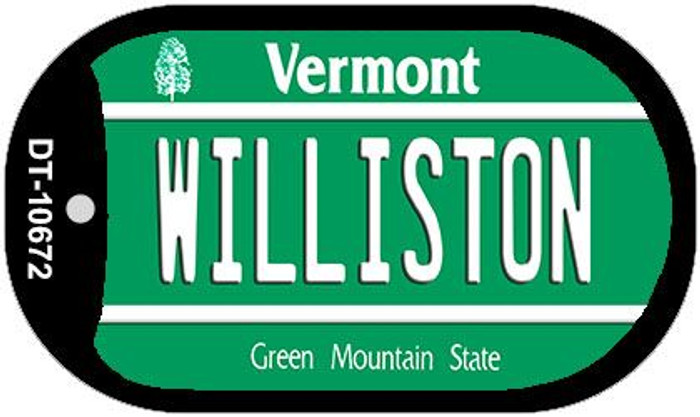 Williston Vermont Wholesale Novelty Metal Dog Tag Necklace DT-10672