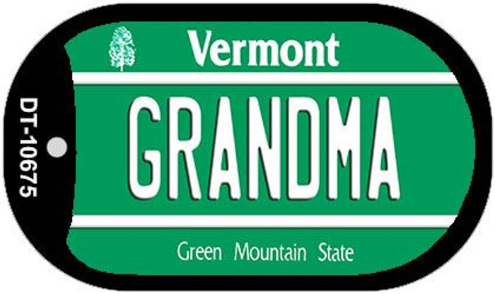 Grandma Vermont Wholesale Novelty Metal Dog Tag Necklace DT-10675