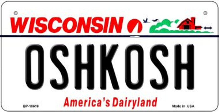 Oshkash Wisconsin Wholesale Novelty Metal Bicycle Plate BP-10619