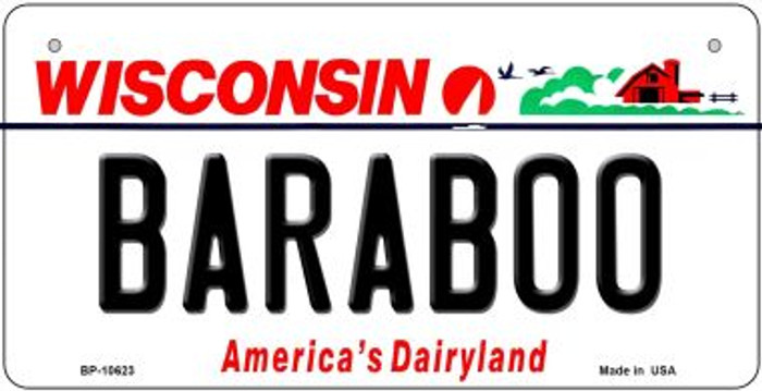 Baraboo Wisconsin Wholesale Novelty Metal Bicycle Plate BP-10623