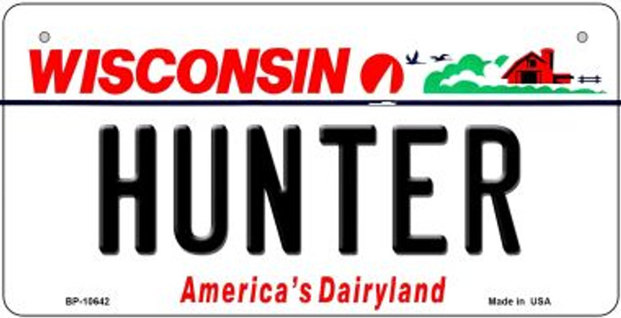 Hunter Wisconsin Wholesale Novelty Metal Bicycle Plate BP-10642