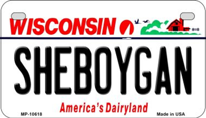 Sheboygan Wisconsin Wholesale Novelty Metal Motorcycle Plate MP-10618