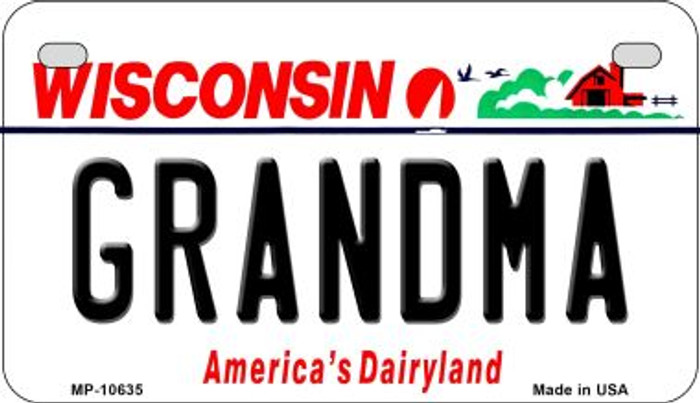 Grandma Wisconsin Wholesale Novelty Metal Motorcycle Plate MP-10635