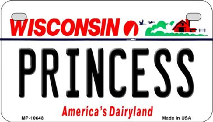 Princess Wisconsin Wholesale Novelty Metal Motorcycle Plate MP-10648