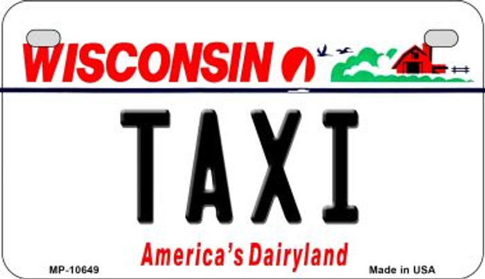 Taxi Wisconsin Wholesale Novelty Metal Motorcycle Plate MP-10649