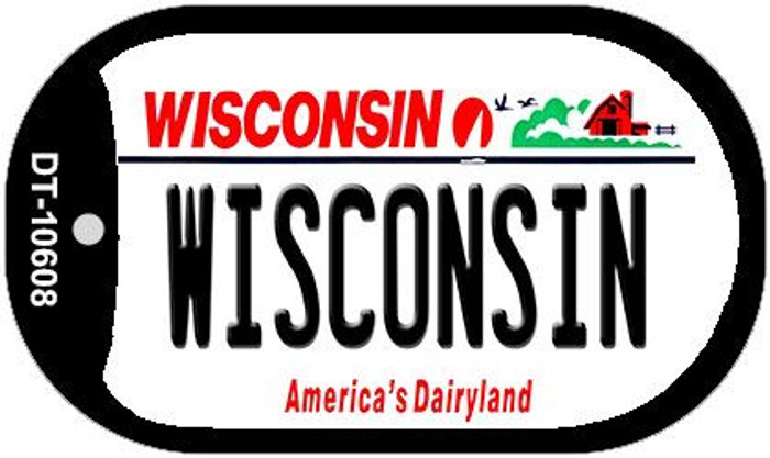 Wisconsin Wholesale Novelty Metal Dog Tag Necklace DT-10608