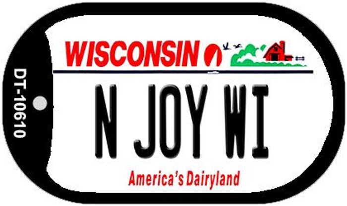 N Joy WI Wisconsin Wholesale Novelty Metal Dog Tag Necklace DT-10610