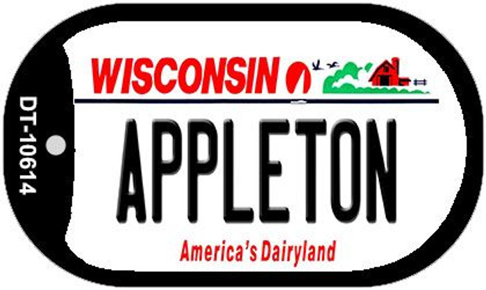 Appleton Wisconsin Wholesale Novelty Metal Dog Tag Necklace DT-10614