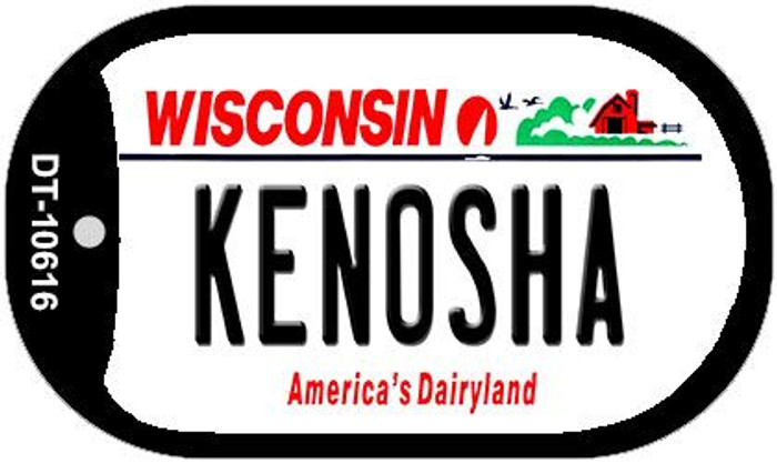 Kenosha Wisconsin Wholesale Novelty Metal Dog Tag Necklace DT-10616