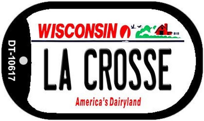 La Crosse Wisconsin Wholesale Novelty Metal Dog Tag Necklace DT-10617