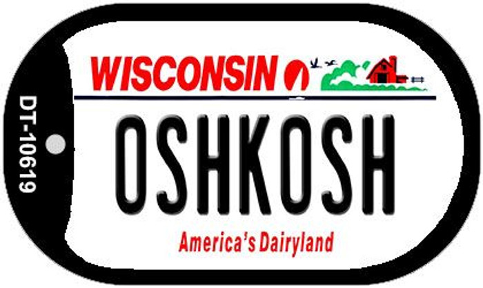 Oshkash Wisconsin Wholesale Novelty Metal Dog Tag Necklace DT-10619