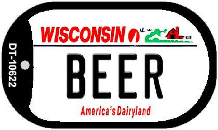 Beer Wisconsin Wholesale Novelty Metal Dog Tag Necklace DT-10622